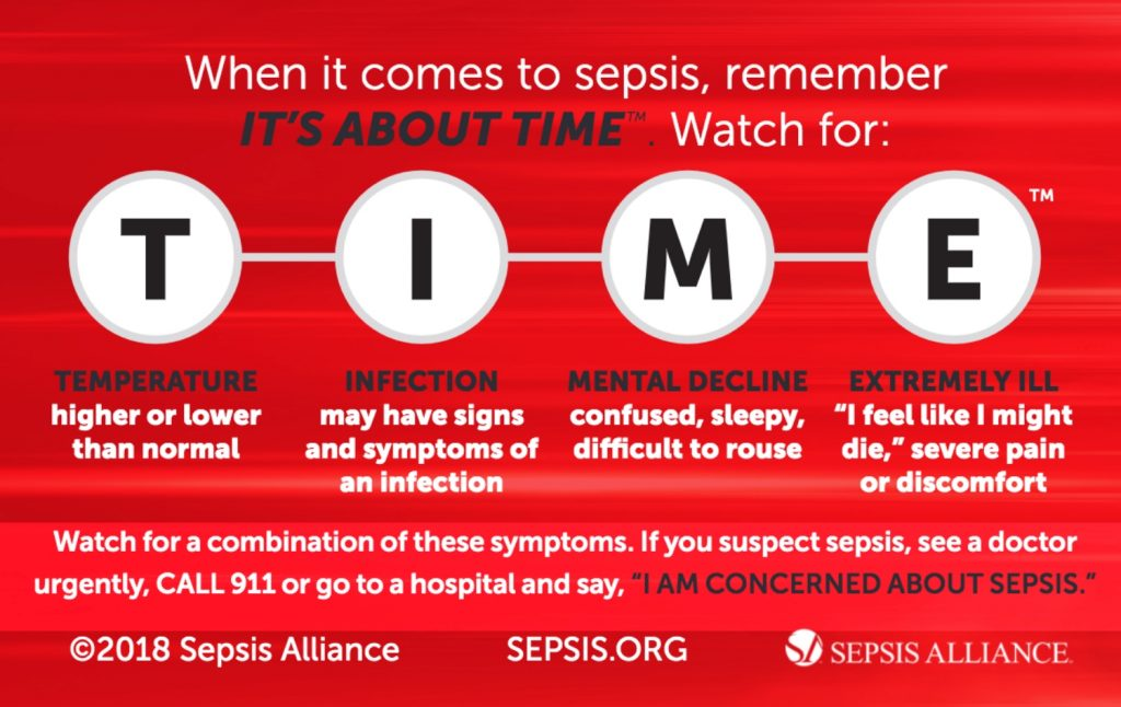 help reduce the sepsis burden by remembering TIME